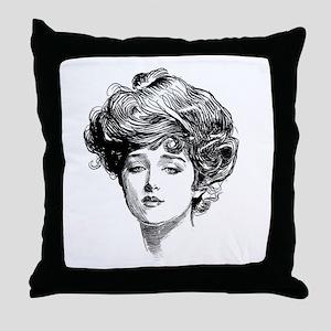 Gibson Girl Throw Pillow