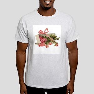 Romantic Roses Ash Grey T-Shirt