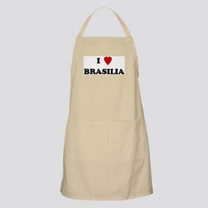 I Love Brasilia BBQ Apron