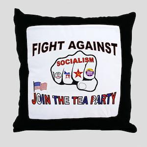 FIGHT SOCIALISM Throw Pillow