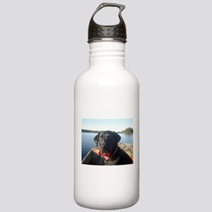Black Labrador Retriever Stainless Water Bottle 1.