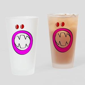 Pink Halloween Gooble Drinking Glass