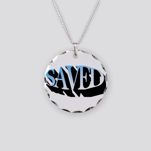 Saved Necklace Circle Charm