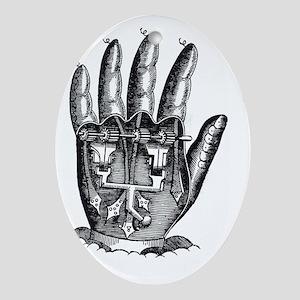Steampunk Machine Hand Ornament (Oval)