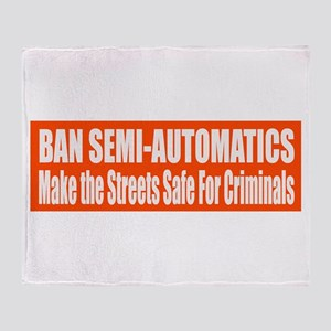 Ban Semi-Automatics Throw Blanket