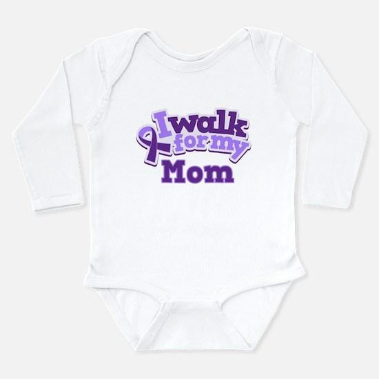 Alzheimers Walk For Mom Long Sleeve Infant Bodysui