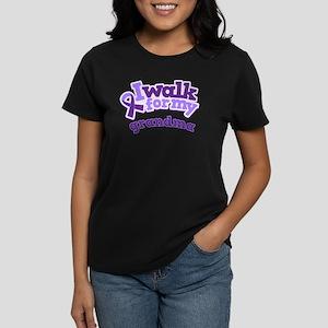 Alzheimers Walk For Grandma Women's Dark T-Shirt