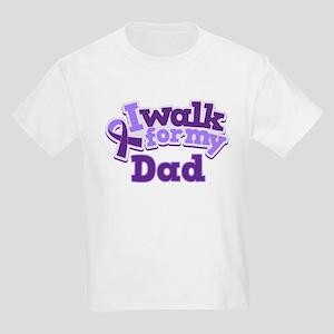 Alzheimers Walk For Dad Kids Light T-Shirt