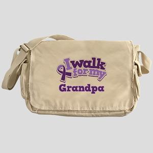 Alzheimers Walk For Grandpa Messenger Bag