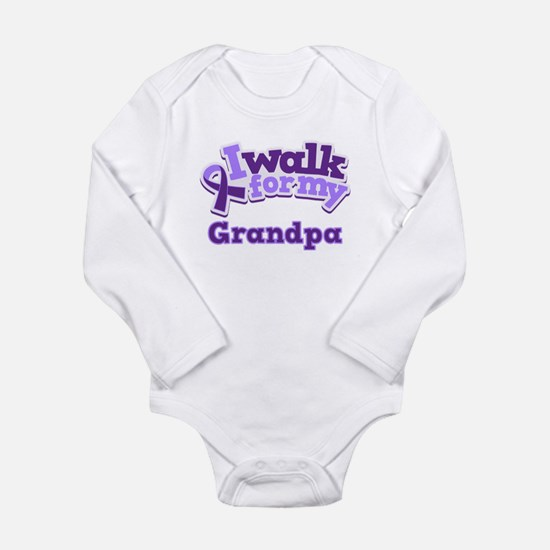Alzheimers Walk For Grandpa Long Sleeve Infant Bod