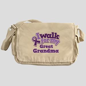 Alzheimers Walk For Great Grandma Messenger Bag