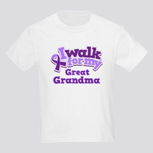 Alzheimers Walk For Great Grandma Kids Light T-Shi