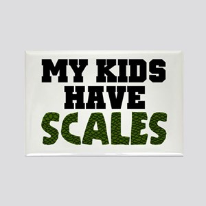 'My Kids Have Scales' Rectangle Magnet