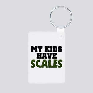 'My Kids Have Scales' Aluminum Photo Keychain