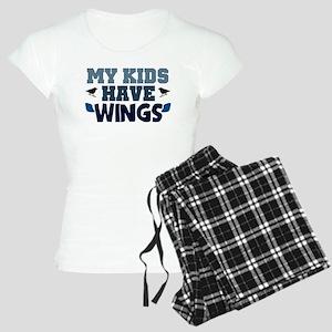 'My Kids Have Wings' Women's Light Pajamas