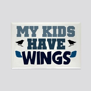 'My Kids Have Wings' Rectangle Magnet
