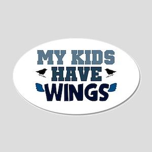 'My Kids Have Wings' 22x14 Oval Wall Peel
