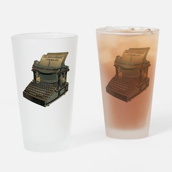 Antique Typewriter Drinking Glass