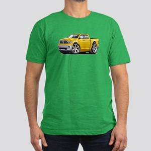 Ram Yellow Dual Cab Men's Fitted T-Shirt (dark)