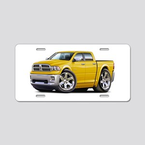 Ram Yellow Dual Cab Aluminum License Plate