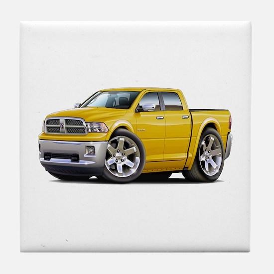 Ram Yellow Dual Cab Tile Coaster