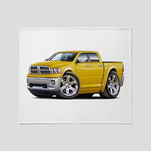 Ram Yellow Dual Cab Throw Blanket