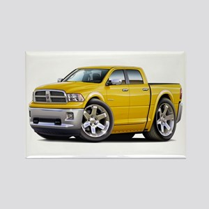 Ram Yellow Dual Cab Rectangle Magnet