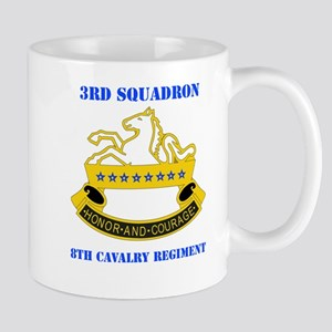 DUI - 3rd Sqdrn - 8th Cavalry Regt with Text Mug