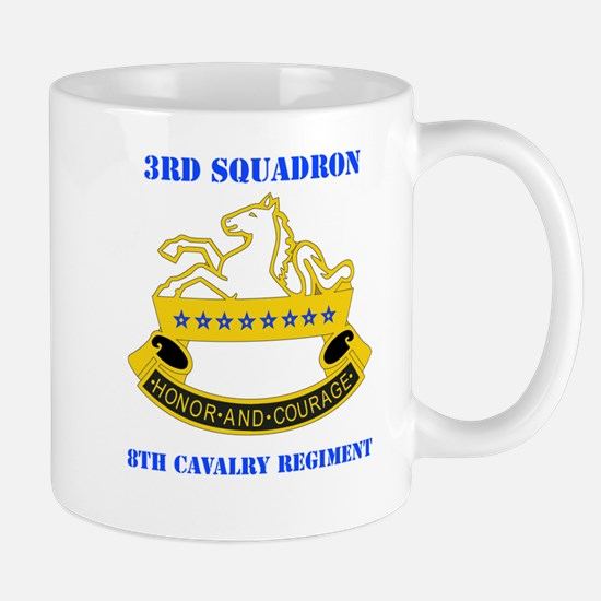 DUI - 3rd Sqdrn - 8th Cavalry Regt with Text Mug