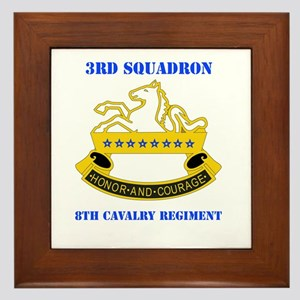 DUI - 3rd Sqdrn - 8th Cavalry Regt with Text Frame