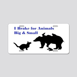 Brake For Animals Aluminum License Plate
