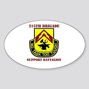 DUI - 215th Bde - Support Bn with Text Sticker (Ov