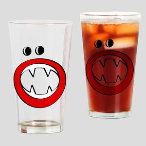Red Halloween Gooble Drinking Glass