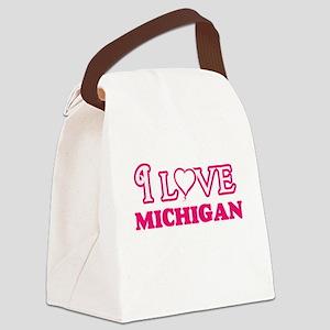 I love Michigan Canvas Lunch Bag