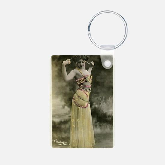 Vintage Bellydancer Yellow Keychains