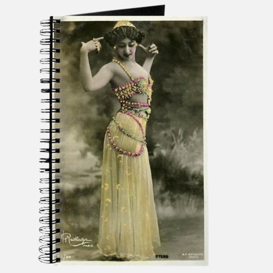 Vintage Bellydancer Yellow Journal