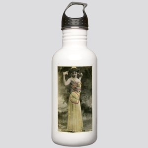 Vintage Bellydancer Yellow Stainless Water Bottle
