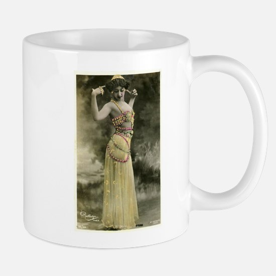 Vintage Bellydancer Yellow Mug