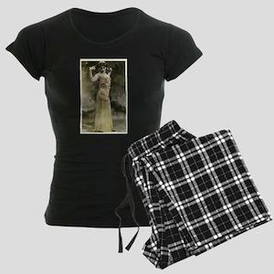 Vintage Bellydancer Yellow Women's Dark Pajamas