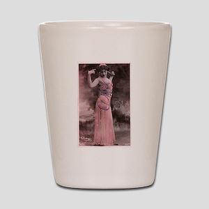 Vintage Bellydancer Pink Shot Glass