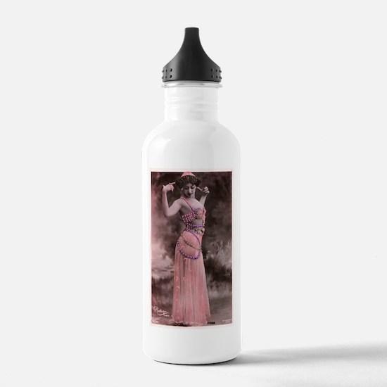 Vintage Bellydancer Pink Water Bottle
