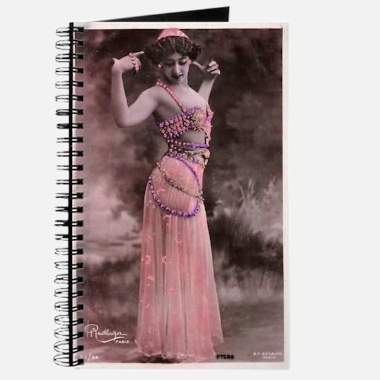 Vintage Bellydancer Pink Journal