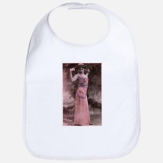 Vintage Bellydancer Pink Bib