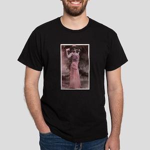 Vintage Bellydancer Pink Dark T-Shirt