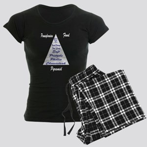 Pennsylvanian Food Pyramid Women's Dark Pajamas