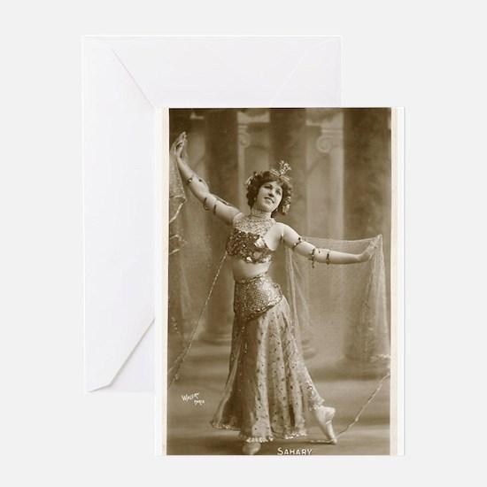Vintage Cabaret Bellydancer Greeting Card