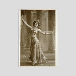 Vintage Cabaret Bellydancer Rectangle Magnet