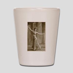 Vintage Cabaret Bellydancer Shot Glass