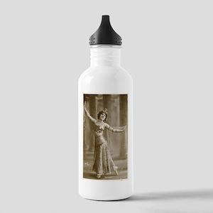 Vintage Cabaret Bellydancer Stainless Water Bottle