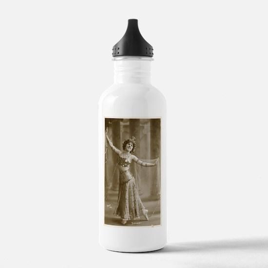 Vintage Cabaret Bellydancer Water Bottle